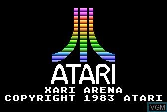 Title screen of the game Xari Arena on Atari 5200