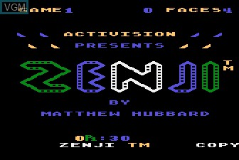 Title screen of the game Zenji on Atari 5200
