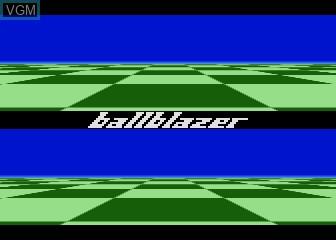 Title screen of the game Ballblazer on Atari 5200