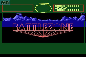 Title screen of the game Battlezone on Atari 5200