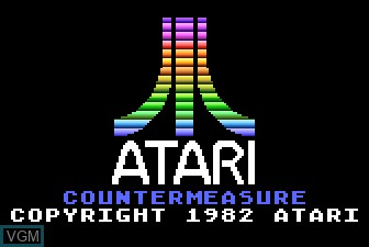 Title screen of the game Countermeasure on Atari 5200