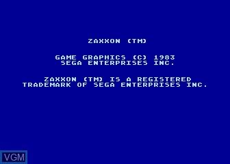Title screen of the game Zaxxon on Atari 5200