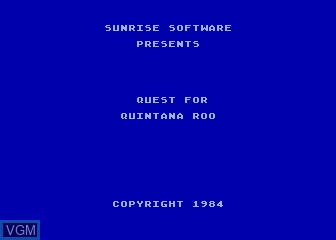 Title screen of the game Quest for Quintana Roo on Atari 5200