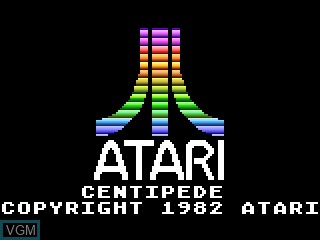 Title screen of the game Centipede on Atari 5200