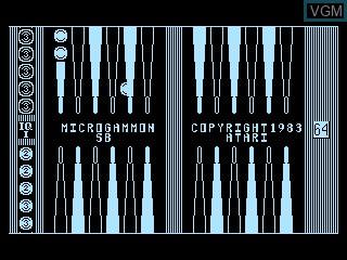 Title screen of the game Microgammon SB on Atari 5200