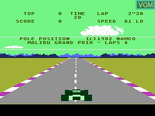 Title screen of the game Pole Position on Atari 5200