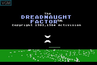 Title screen of the game Dreadnaught Factor, The on Atari 5200