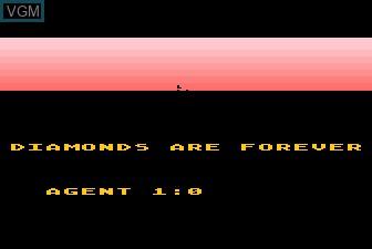 Menu screen of the game James Bond 007 on Atari 5200