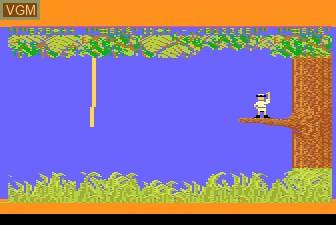 Menu screen of the game Jungle Hunt on Atari 5200