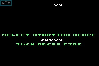 Menu screen of the game Millipede on Atari 5200