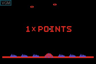 Menu screen of the game Missile Command on Atari 5200