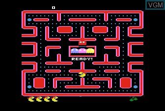 Menu screen of the game Ms. Pac-Man on Atari 5200