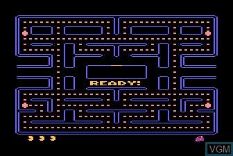 Menu screen of the game Pac-Man on Atari 5200