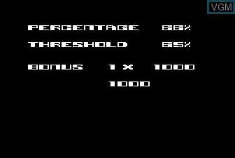 Menu screen of the game QIX on Atari 5200