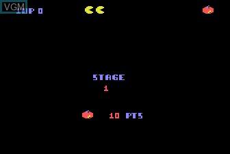 Menu screen of the game Super Pac-Man on Atari 5200