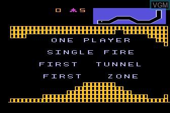 Menu screen of the game Vanguard on Atari 5200
