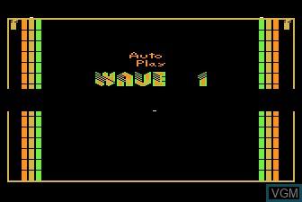 Menu screen of the game Xari Arena on Atari 5200