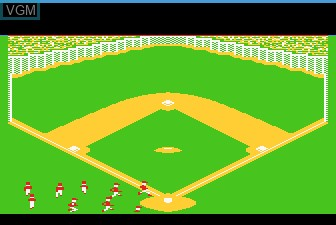 Menu screen of the game Barroom Baseball on Atari 5200