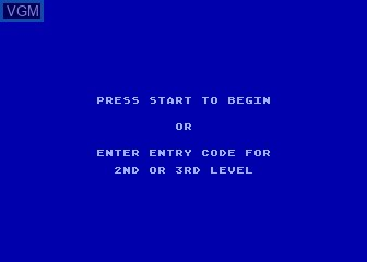 Menu screen of the game Quest for Quintana Roo on Atari 5200