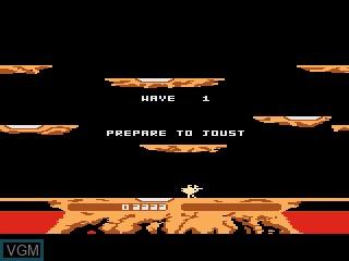 Menu screen of the game Joust on Atari 5200