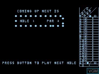 Menu screen of the game Miniature Golf on Atari 5200