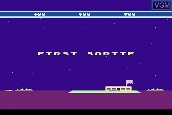 Menu screen of the game Choplifter on Atari 5200