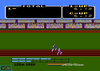 In-game screen of the game Activision Decathlon, The on Atari 5200