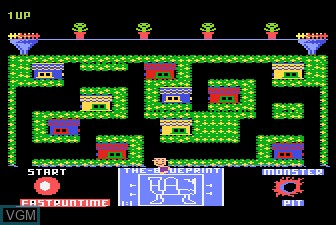 In-game screen of the game Blueprint on Atari 5200