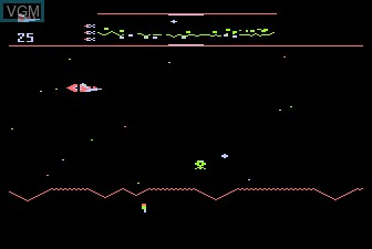In-game screen of the game Defender on Atari 5200