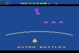 In-game screen of the game Gorf on Atari 5200