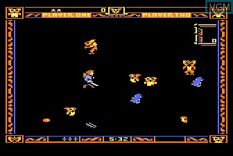 In-game screen of the game Gremlins on Atari 5200