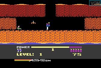 In-game screen of the game H.E.R.O. on Atari 5200