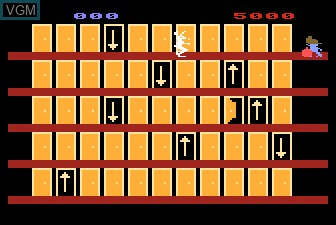 In-game screen of the game Looney Tunes Hotel on Atari 5200