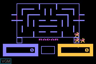 In-game screen of the game Wizard of Wor on Atari 5200