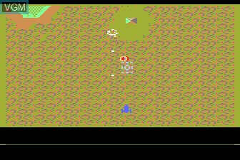 In-game screen of the game Xevious on Atari 5200