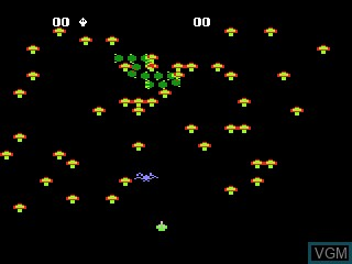 In-game screen of the game Centipede on Atari 5200