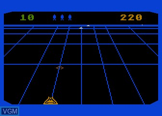 In-game screen of the game Beamrider on Atari 5200