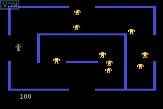 In-game screen of the game Berzerk on Atari 5200