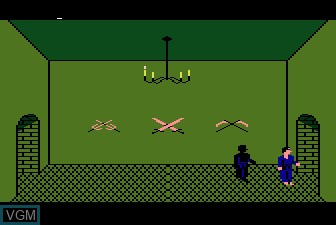 In-game screen of the game Black Belt on Atari 5200