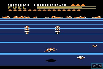 In-game screen of the game Buck Rogers - Planet of Zoom on Atari 5200