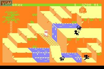 In-game screen of the game Congo Bongo on Atari 5200
