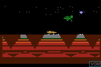 In-game screen of the game James Bond 007 on Atari 5200