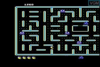 In-game screen of the game Jr Pac-Man on Atari 5200