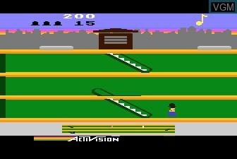 In-game screen of the game Keystone Kapers on Atari 5200