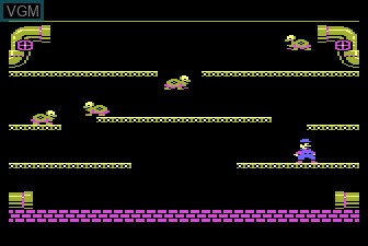 In-game screen of the game Mario Brothers on Atari 5200