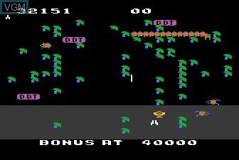 In-game screen of the game Millipede on Atari 5200