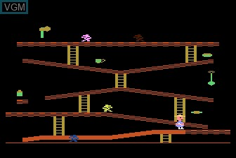 In-game screen of the game Miner 2049 on Atari 5200