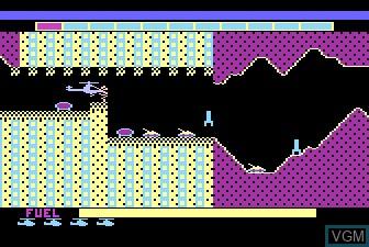 In-game screen of the game Super Cobra on Atari 5200