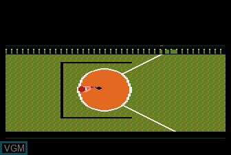 In-game screen of the game Track and Field on Atari 5200