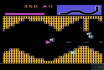 In-game screen of the game Vanguard on Atari 5200